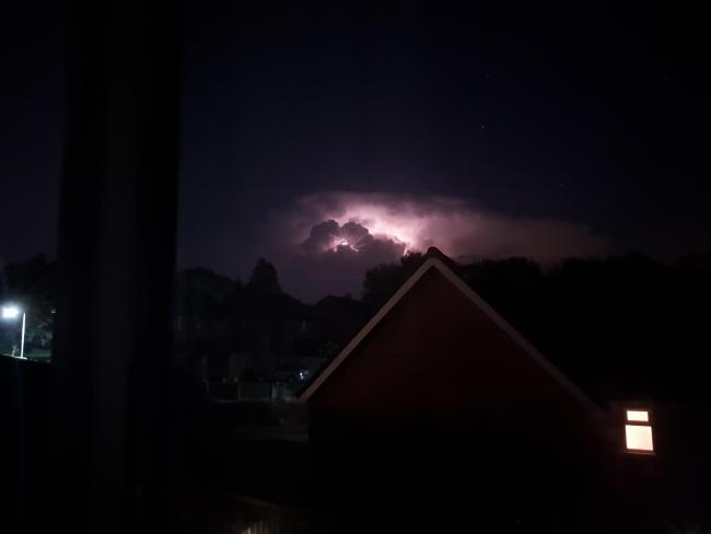 Lightning show over North hereford last night