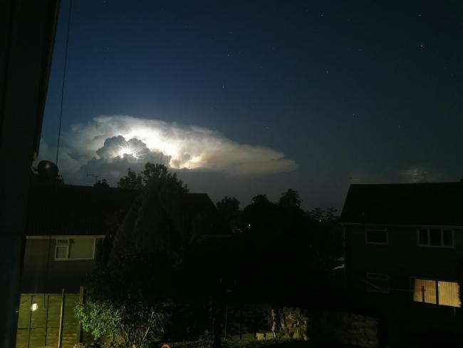 Lightning storm from last night.