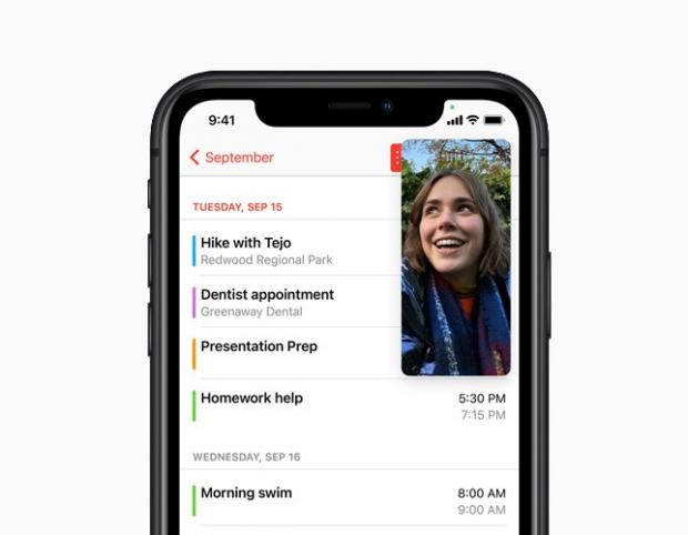 Ledbury Reporter: With Picture-in-Picture, users can watch a video or take a FaceTime call while using another app. Picture: Apple