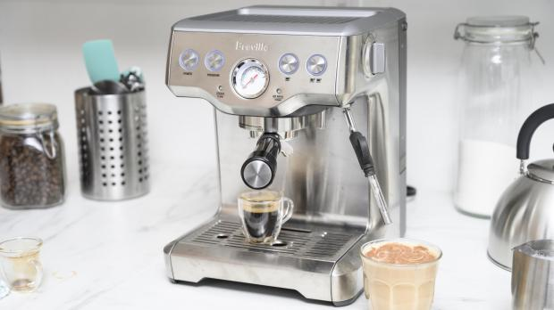 Ledbury Reporter: If you're trying to kick your Costa habit, you may benefit from an espresso machine. Credit: Reviewed / Betsey Goldwasser