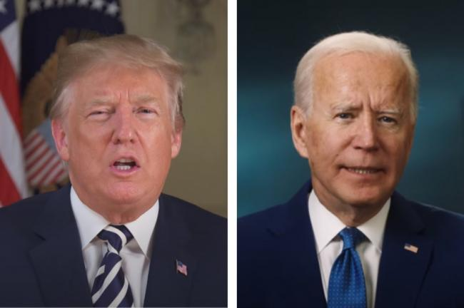 US election: What is the electoral college - and how does it work? Pictures: White House YouTube channel and Joe Biden YouTube channel