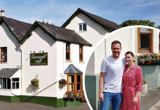 Dan and Nicki Ratcliffe who run the Harewood End Inn between Hereford and Ross-on-Wye