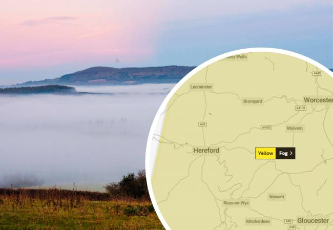 The Met Office has a yellow weather warning for fog in place for Herefordshire overnight. Picture: Matt Addis/Hereford Times Camera Club/Met Office