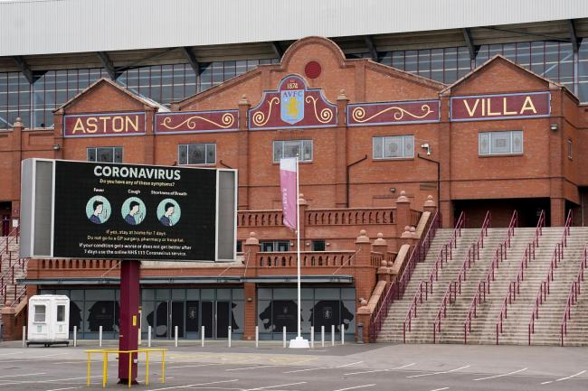 A general shot of the outside of Villa Park