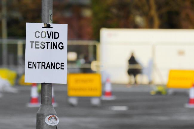 The coronavirus testing site in Leominster continues to operate. Picture: Rob Davies
