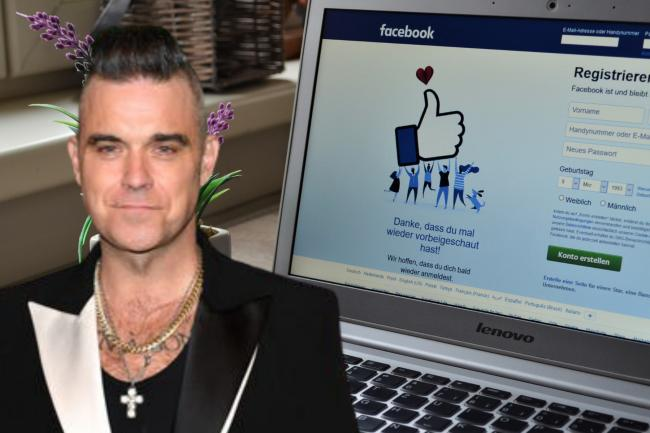 The Robbie Williams Facebook scam you need to be aware of. (Canva/PA)