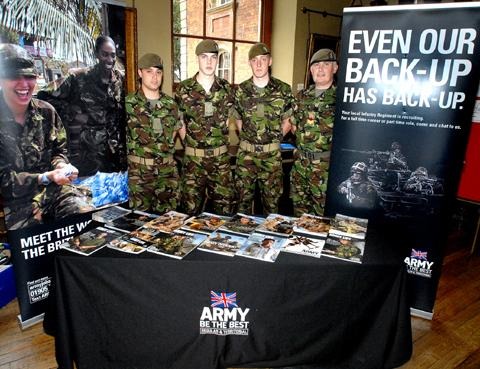 ATTENTION: The British Army is just one of the exhibitors confirmed for next month's Worcester News Jobs and Careers Fair.