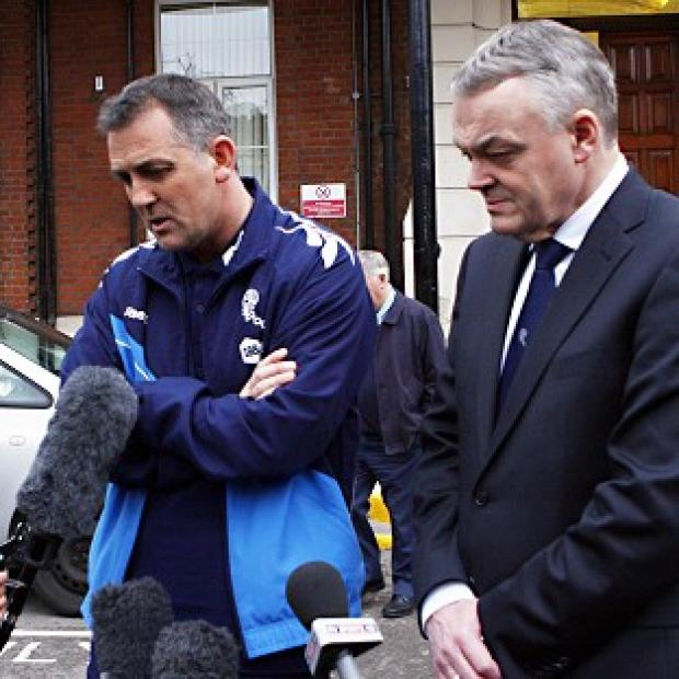 Owen Coyle (left) and Phil Gartside