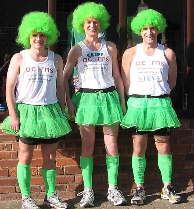 We're running London Marathon – dressed like this