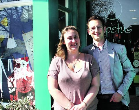 A top five independent gift retailer: Anna Brook and Chris Marks, of Iapetus Gallery in Malvern.