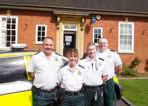 Community paramedics: From left, Tony Mason, Avril Lowe, Paul Harris and Adrian Gilbert.