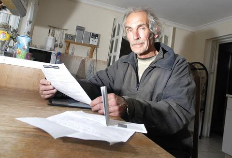 Food parcels: Ledbury man Paul Knapman inspired a new proposal after talking to deputy mayor Tony Bradford. 17023102