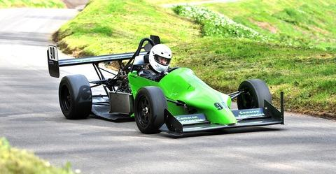 Driving her 600cc Honda-powered Nemesis, Malvern-based rookie Tracey Cameron impressed on her debut in the Midland Hill Climb Championship at Shelsley  Walsh. Picture: 18032506