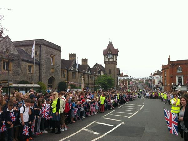 CROWDS: The scene in Ledbury this morning