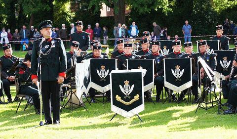 More than 800 people turned out to watch the Band of the Brigade if Gurkhas play on the recreation ground at the weekend.