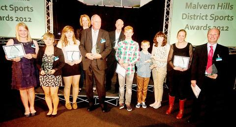 AWARDS GALORE: All the winners from the 2012 Malvern Hills District Sports Awards pose for the camera.