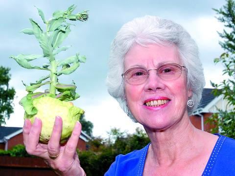Veg-gate: Patricia Bott with her infamous cabbage