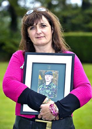 WAR HERO: Lucy Aldridge's son William was killed in 2009.