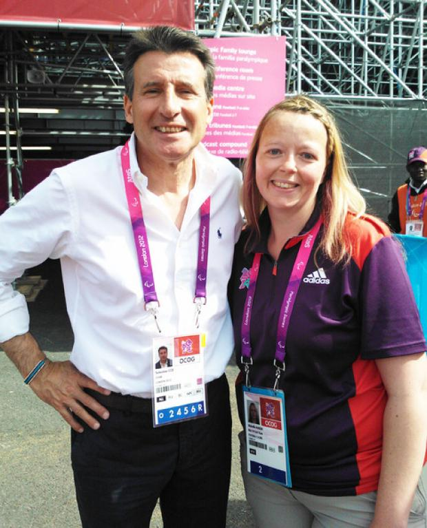 GAMES MAKER: Shelley Marsh with Lord Coe.