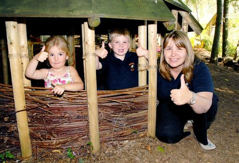 THUMBS UP: From left, Kasey Jones, Kit Moore and Michelle Bullock, preschool assistant. Picture by Paul Jackson. 36125801