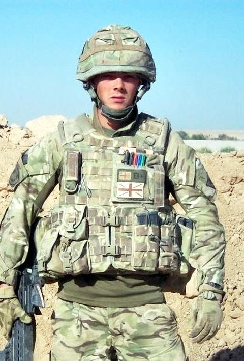 SAFELY HOME: A Ledbury soldier has returned from a tour of Afghanistan's infamous Death Valley.