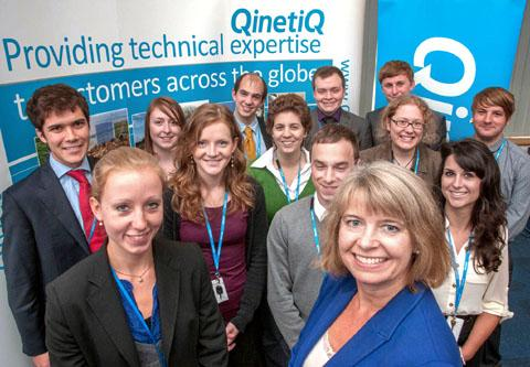 WELCOME NEWS: QinetiQ is starting its apprentice scheme again and increasing graduate numbers.