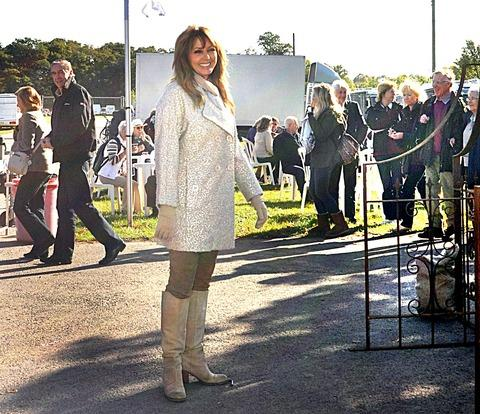CELEBRITY: TV personality Carol Vorderman in Malvern