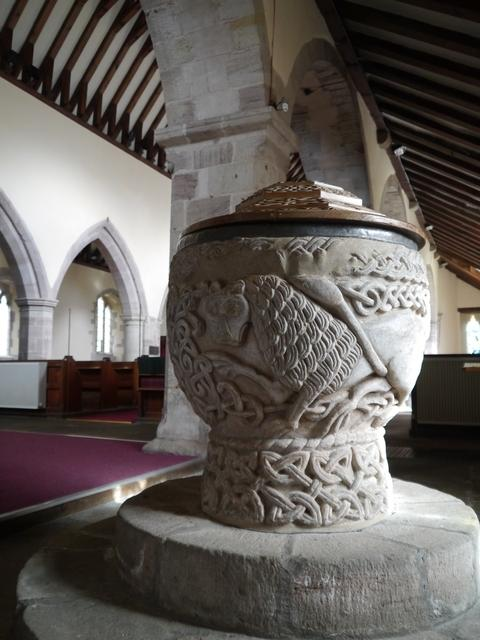 The impressive font at St Mary Magdalene Church
