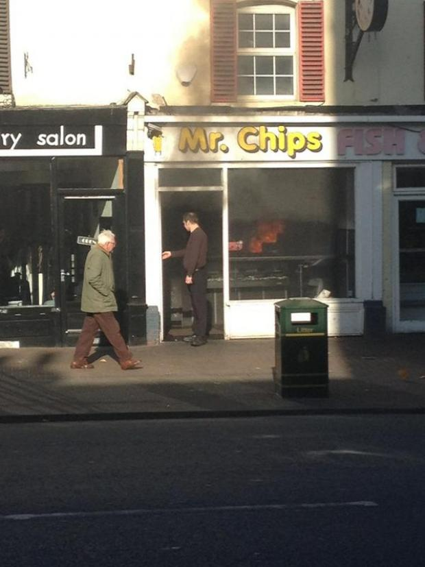 Fire at Mr Chips. Picture by Paul Tanswell
