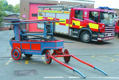 The vintage fire pump
