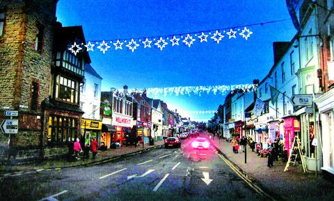 LIGHTING-UP TIME? How the Christmas lights could look after Ledbury Town Council struck a new deal to reduce by half the cost of the display.