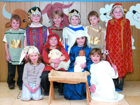 These youngsters from Orleton CE Primary feature in today's nativity special