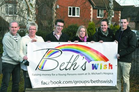 Ledbury Reporter: Friends and family at the launch of Beth's Wish last year.
