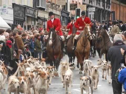 Ledbury Reporter: Plenty turned out in Ledbury to watch the Boxing Day hunt