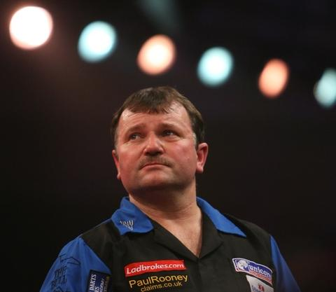 WINDING DOWN: Terry Jenkins admits he has found the touring circuit 'exhausting' over the last 12 months in particular. Picture: LAWRENCE LUSTIG/PDC
