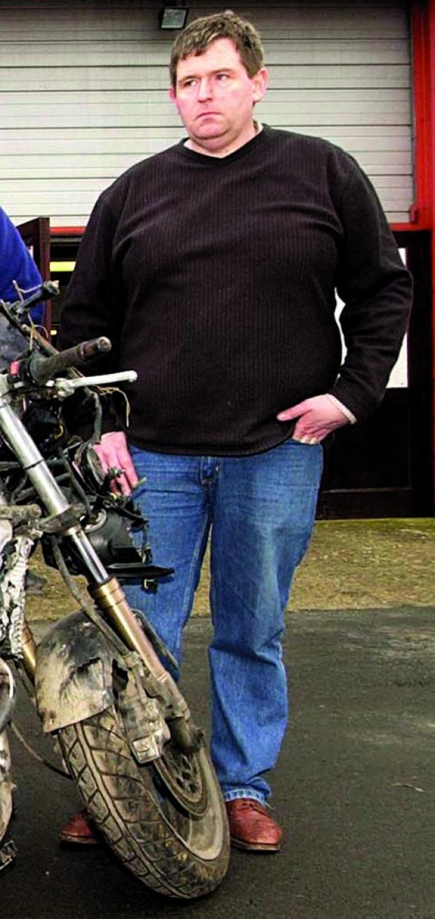 CRITICAL: Popular Ledbury businessman Lee Vine, of Lee Motorcycles, has suffered 50 per cent burns to his body.