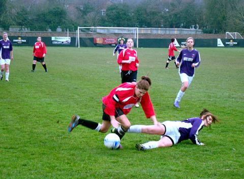 Football - Plucky Ladies' Seven lose 9-0