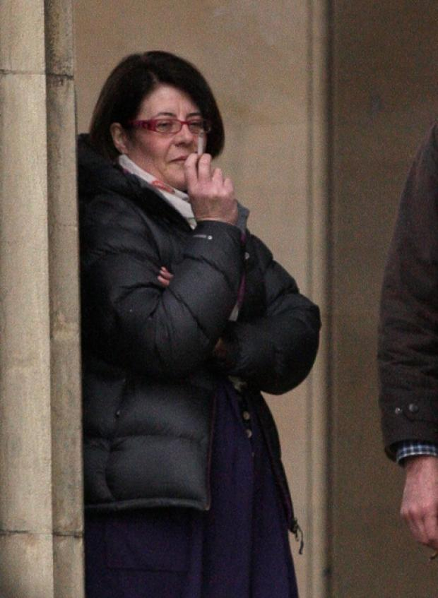 Nicola Saxleby, pictured outside Hereford Crown Court yesterday, has been jailed