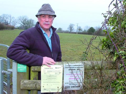 Bill Brenner pictured beside the field where the affordable homes are planned