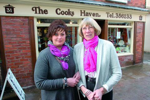 Ali Baker (left) and Gillie Bulmer pictured outside The Cooks Haven on Church Street in Hereford.