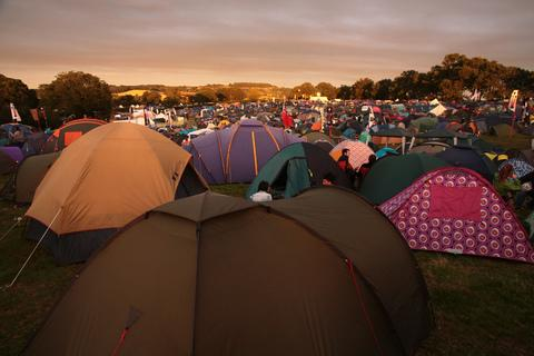 The Hidden Valley: A view of the campsite last year