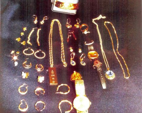 Jewellery was stolen from a house in Lyonshall.