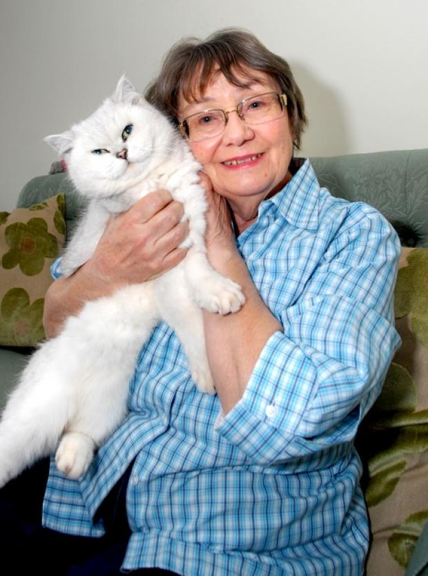BACK HOME: Susan Shirley has been reunited with beloved cat Kuching after 30 days. By Nick Toogood. 0913256301