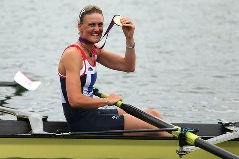 Heather Stanning winning Gold for Great Britain last summer