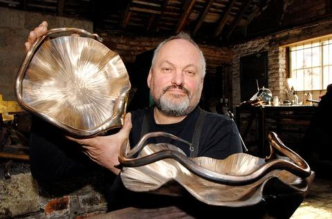 ONE OF A KIND: Andrew Findlay from Eastnor Forge has made a series of bowls from silicon bronze, two of which are pictured. By Nick Toogood. 1013261901.