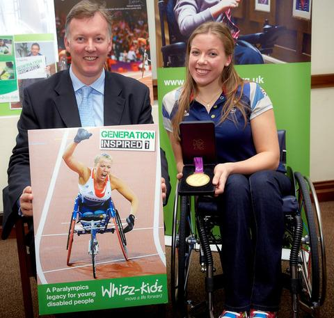 MANIFESTO: MP Bill Wiggin and paralympic champion Hannah Cockroft promoting Whizz-Kidz