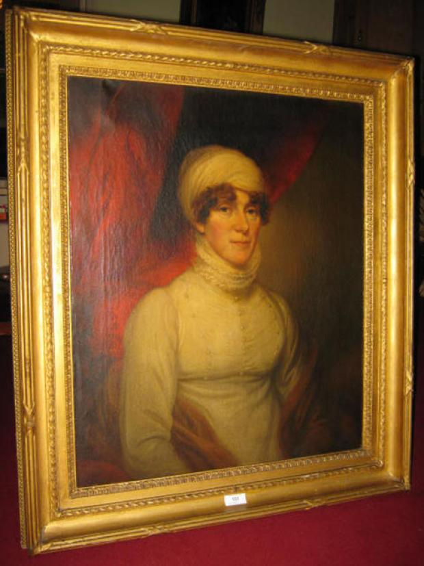 PAINTING: Thought to be of Lady Emily Foley, but the owner would like confirmation of this.