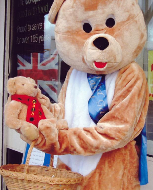 FUND-RAISING: Huggy the mascot will be out and about.