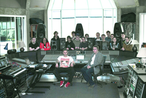 Students visiting Peter Gabriel's studios.