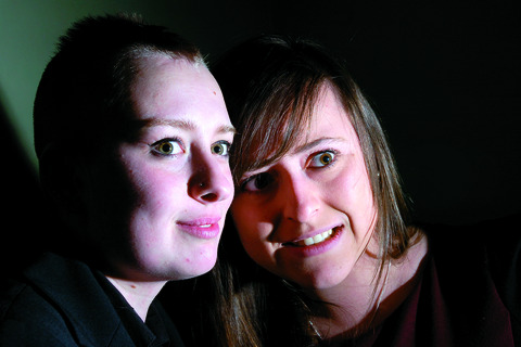 Lydia Johnson (left) and Jess Phillips spent a night in Hereford's Shirehall...